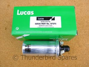 Ignition Coil 6v, Genuine Lucas, Triumph & BSA to 1967, 750 1979-85, LU47275